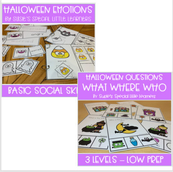 HALLOWEEN LANGUAGE BUNDLE FOR AUTISM SPECIAL ED AND SPEECH THERAPY