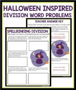 LONG DIVISION WITCH WORKSHEET