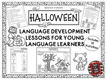 HALLOWEEN Language Development Lessons for Young Language