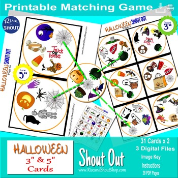HALLOWEEN SHOUT OUT; Class Party Game; Writing Prompt; Spot the Match Game