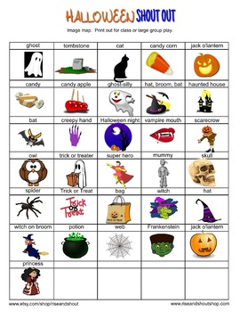 HALLOWEEN SHOUT OUT; 25% off! Class Party Game; Writing Prompt; Spot the Match