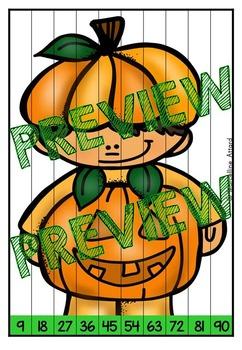 HALLOWEEN MATH CENTER 3RD GRADE (SKIP COUNTING ACTIVITY 2ND GRADE) OCTOBER