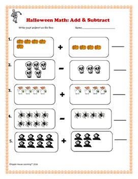 HALLOWEEN MATH: ADDITION & SUBTRACTION