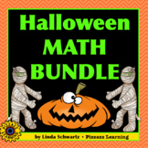 HALLOWEEN MATH BUNDLE • 5 SPOOKY MATH REVIEW UNITS