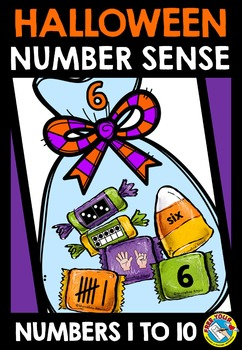 HALLOWEEN MATH CENTER KINDERGARTEN (NUMBER SENSE GAME) TRICK OR TREAT ACTIVITY