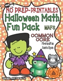 HALLOWEEN MATH NO PREP Printables Common Core  MAFS Activities Worksheeet Pack
