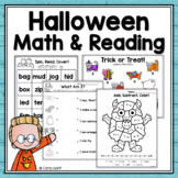 HALLOWEEN  MATH and READING  Worksheets and Games