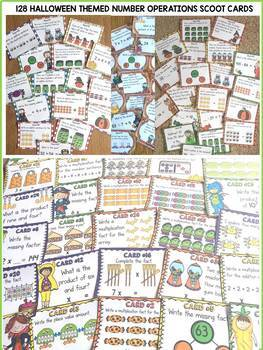 HALLOWEEN MATH SCOOT BUNDLE {ADDITION, SUBTRACTION, MULTIPLICATION, DIVISION}