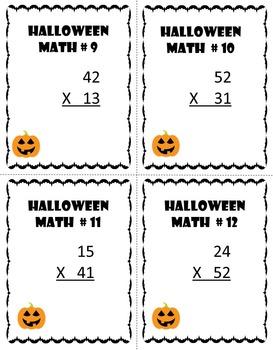 Halloween Math Task Card Bundle (3 Levels)