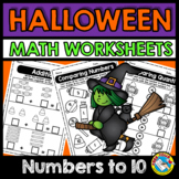 HALLOWEEN MATH WORKSHEETS KINDERGARTEN