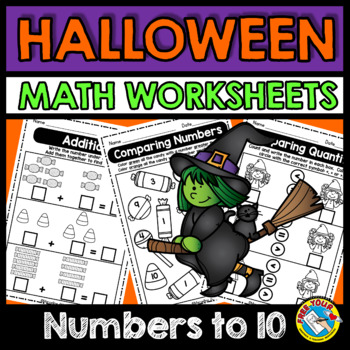 HALLOWEEN MATH WORKSHEETS (KINDERGARTEN ACTIVITY) OCTOBER MORNING WORK