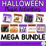 Music Class Halloween Lesson Bundle: Songs, Games, Printab