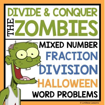 HALLOWEEN DIVIDING FRACTIONS WORD PROBLEMS