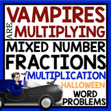 HALLOWEEN MULTIPLYING FRACTIONS WORD PROBLEMS