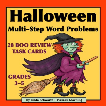 HALLOWEEN MULTI-STEP WORD PROBLEMS • MATH REVIEW • GRADES 3–5