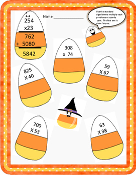 HALLOWEEN MULTIPLICATION - 4th, 5th Grade