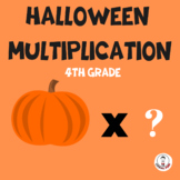 HALLOWEEN MULTIPLICATION|HAPPY HALLOWEEN WORKSHEET FOR FOU