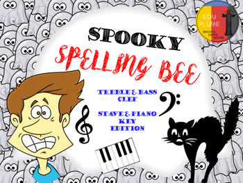 HALLOWEEN - MUSIC STAFF/ PIANO SPOOKY SPELLING BEE