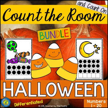 HALLOWEEN Math - Count the Room – Ten Frames and Numbers 1 - 20 {BUNDLE}
