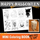 HALLOWEEN Mini Book - Color In - PDF file - Instant Download-