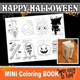 HALLOWEEN Mini Book - Color In - PDF file - Instant Download-