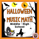 HALLOWEEN Music Math for Middle School