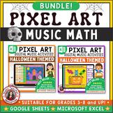Music Pixel Art Halloween Music Math Bundle