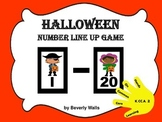 HALLOWEEN Number Line Up 1 - 20 Game