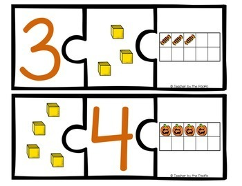 HALLOWEEN Math Number Puzzles, 1 – 10