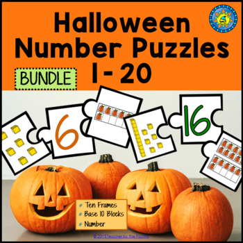 HALLOWEEN Math Number Puzzles, 1 – 20