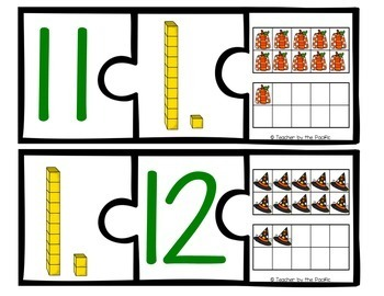 HALLOWEEN Math Number Puzzles, 11 – 20