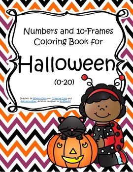 HALLOWEEN Numbers and 10-Frames Coloring Book 0-20