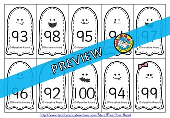 GHOST ODD AND EVEN GAME (HALLOWEEN MATH CENTER 1ST GRADE) OCTOBER ACTIVITY