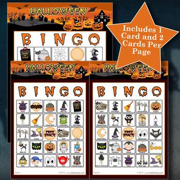 HALLOWEEN - ORANGE 5x5 BINGO - 60 CARDS