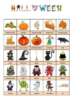 HALLOWEEN - PICTIONARY - 2 by ELIOT EMMA CREATIONS | TpT