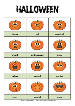 HALLOWEEN - PICTIONARY - PUMPKINS and FEELINGS by ELIOT ...