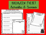 HALLOWEEN ENGLISH POETRY - senses and acrostic poetry