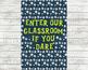 HALLOWEEN PRINTABLE CLASSROOM Poster Digital Download / Instant Download / Cute