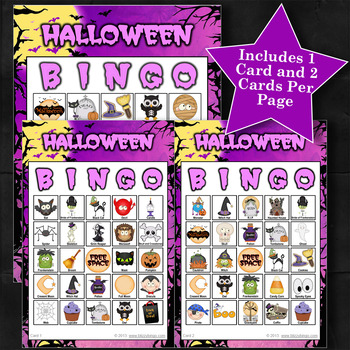 HALLOWEEN - PURPLE 5x5 BINGO