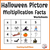 HALLOWEEN Picture Multiplication Facts Worksheets Gr. 2-3