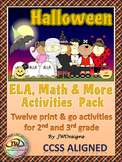 HALLOWEEN Math and Literacy Activities NO PREP Printables
