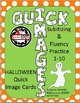 HALLOWEEN QUICK IMAGES FOR SUBITIZING WITH NUMBER TALKS AND CENTERS