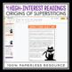 HALLOWEEN READING COMPREHENSION (DIGITAL GOOGLE) - SUPERSTITIONS