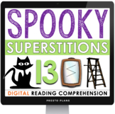 HALLOWEEN READING COMPREHENSION DIGITAL PAPERLESS GOOGLE