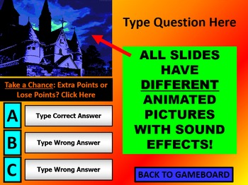 HALLOWEEN REVIEW GAME TEMPLATE POWERPOINT