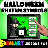 HALLOWEEN RHYTHM SYMBOL MUSIC BOOM CARDS™ Distance Learnin