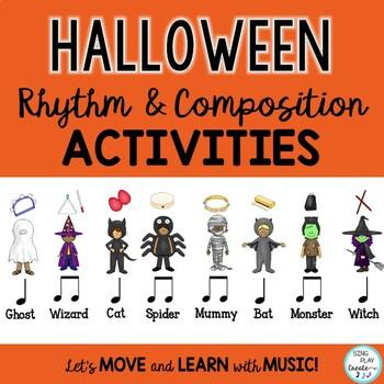 Halloween Music Rhythm- Composing-Improvisation Lessons and Activities