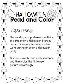 HALLOWEEN Read & Color