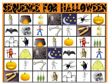 SPEECH THERAPY SEQUENCE GAME- HALLOWEEN VOCABULARY