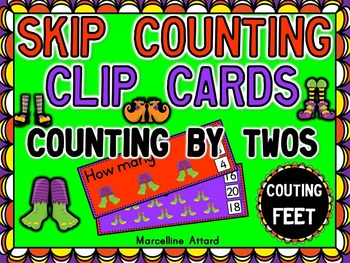 HALLOWEEN MATH CENTER (SKIP COUNTING ACTIVITY) COUNT BY 2S